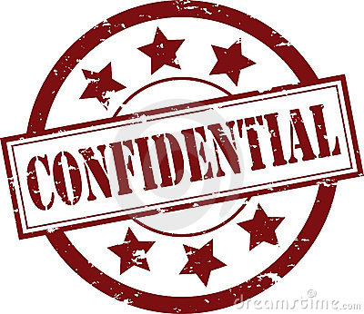 Confidential Rubber Stamp (Vector)
