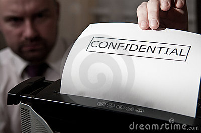 Confidential shredder