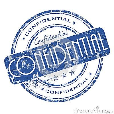 Confidential stamp