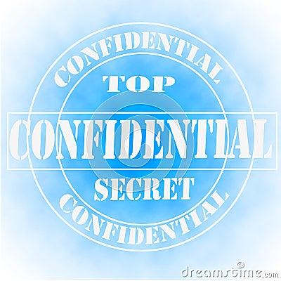 Confidential Top Secret Sign, Symbol or Stamp