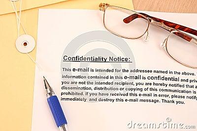 Confidentiallity Notice