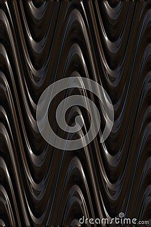 Modèle de vagues 3d foncé