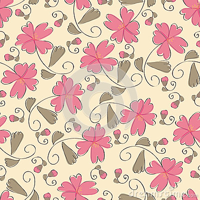 Configuration de fleur rose sans joint