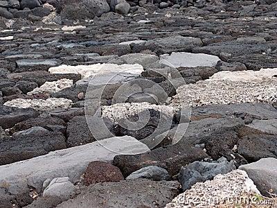 Configuration de mur de roche de lave