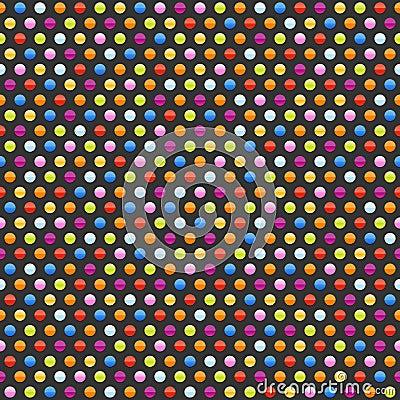 Configuration sans joint de fond avec les points multicolores