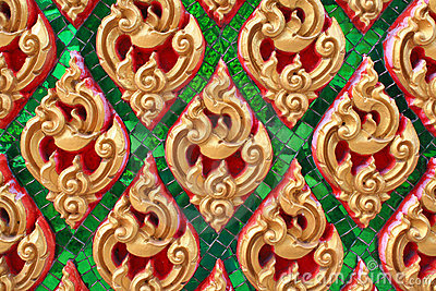 Configuration thaïe traditionnelle d art de type