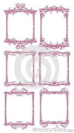 Confine decorativo d annata di progettazione