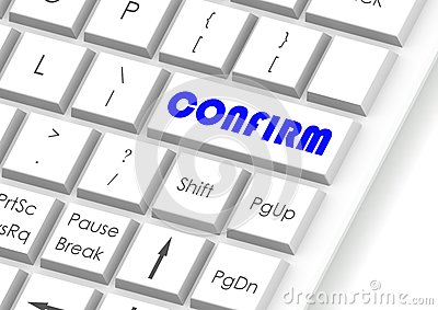 Confirm and keyboard