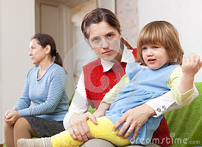 Conflict between the mother and her mother