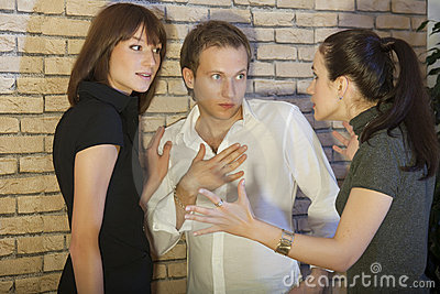 Conflict between two women and man