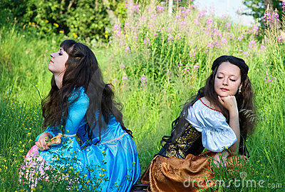 Conflict Between Two Young Women Stock Photo - Image: 20358000