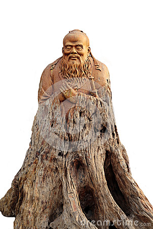 Confucius woodcarving like