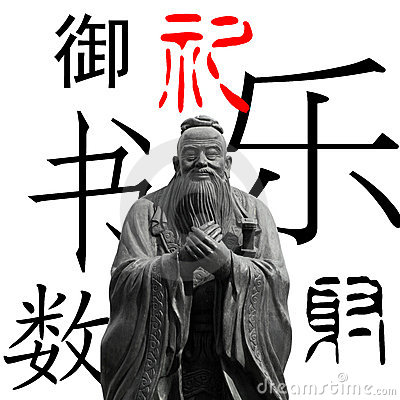 Confucius isolated and six classical arts