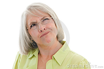 Confused возмужалая женщина