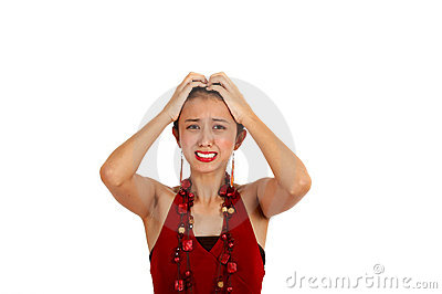 Confused Asian Woman Stock Photo - Image: 4083080
