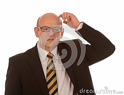 Confused Bald Man