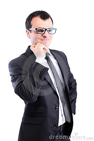 Confused Businessman Stock Photo - Image: 22868750