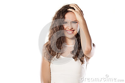 Confused Girl Stock Photo Image 58722794