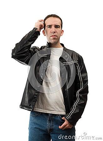 Confused head skrapa för man
