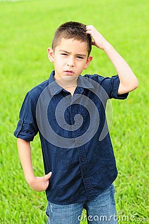 Confused kid