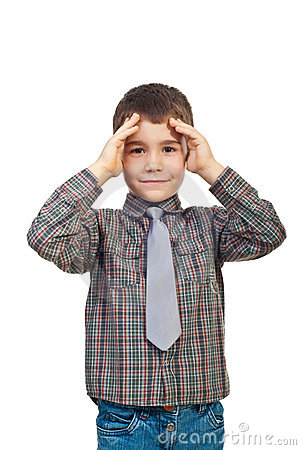 Confused kid boy
