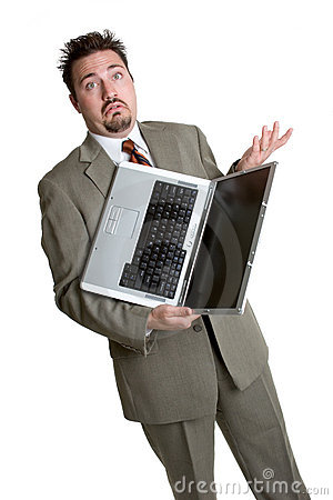 Confused Laptop Man