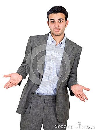 Confused man för affär