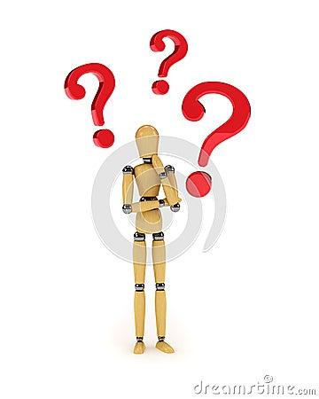 Confused mannequin