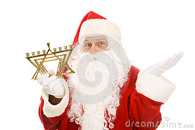 Confused menorah santa