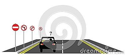 Confused motorist
