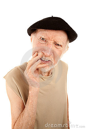 Free Confused Senior Man In Beret Stock Photos - 13252913