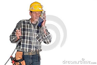 Confused, stressed handyman