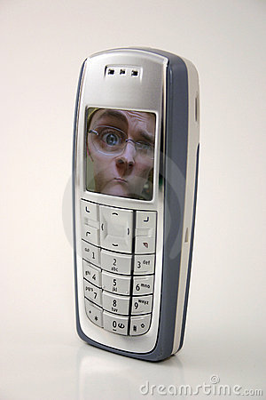 Confused by technology / funny cellphone (picture cell phone)