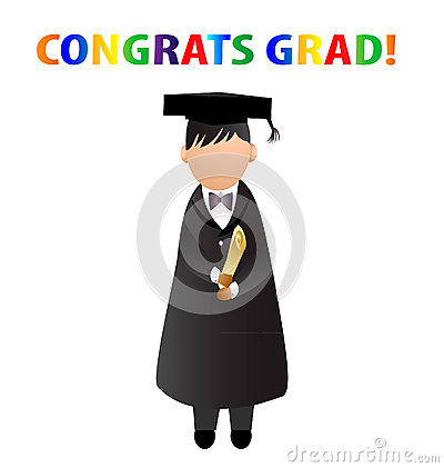 Congrats Grad!  Card Stock Photo - Image: 24853880