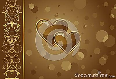 Congratulation card with heart