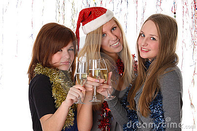 Congratulation with new year and christmas
