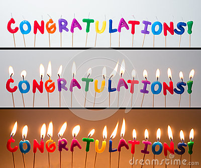 Congratulations Candles Stock Images Image 36596634
