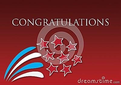 Congratulations fireworks award