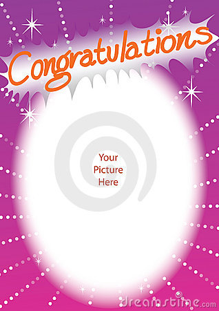 congratulations frame card stock photos image 14877653