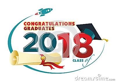 Congratulations graduates card Vector Illustration