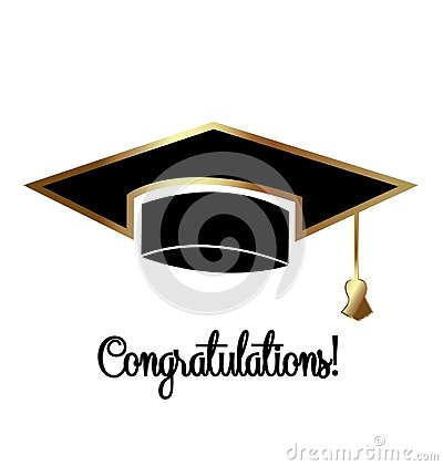 Congratulations graduates, graduation day cap symbol Vector Illustration