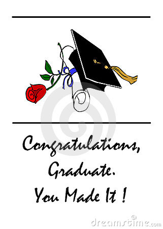 Congratulations Graduates Rose Diploma Stock Images