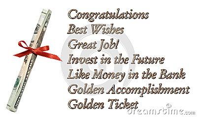 Congratulations Money