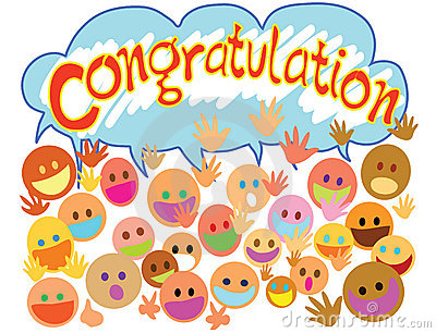 Congratulations with people faces