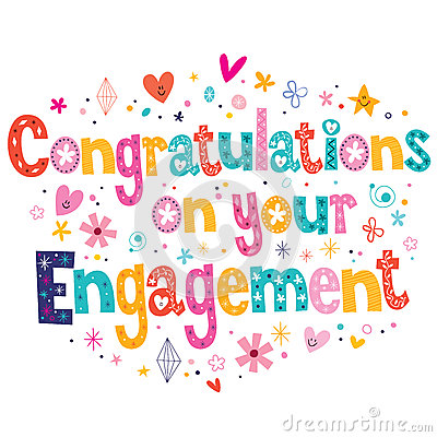 Congratulations On Your Engagement Card Stock Vector - Image: 44447320