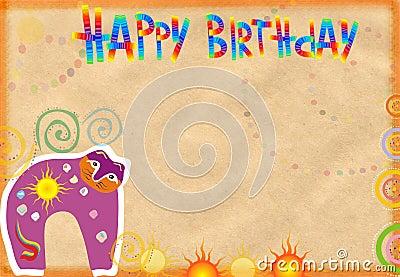 Congratulatory card on birthday
