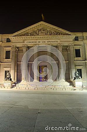 Congreso de los diputados  building, Madrid