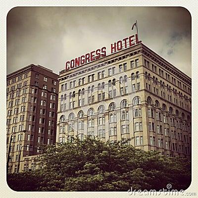 Congress Hotel Chicago Editorial Photo