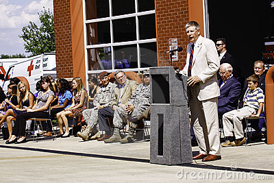 Congressman Kissel Speaking at 9 11 Ceremony Editorial Photo
