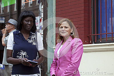 Congresswoman Mellissa Cerano at Yomo Toro street dedication Editorial Stock Photo